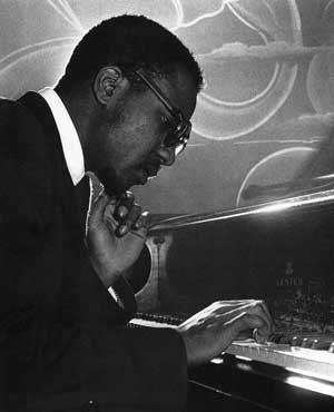Thelonious Monk plays jazz piano