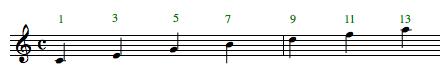 chord tensions, 9, 11, 13