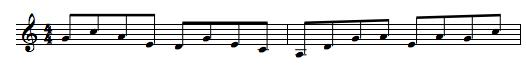 pentatonic scale, line, melody, lick, riff