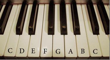 major scales, scale, piano